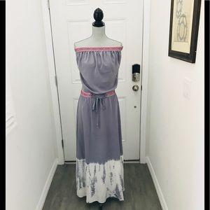 Gypsy Cairo Gray Silk Embroidery Tube Silk Dress